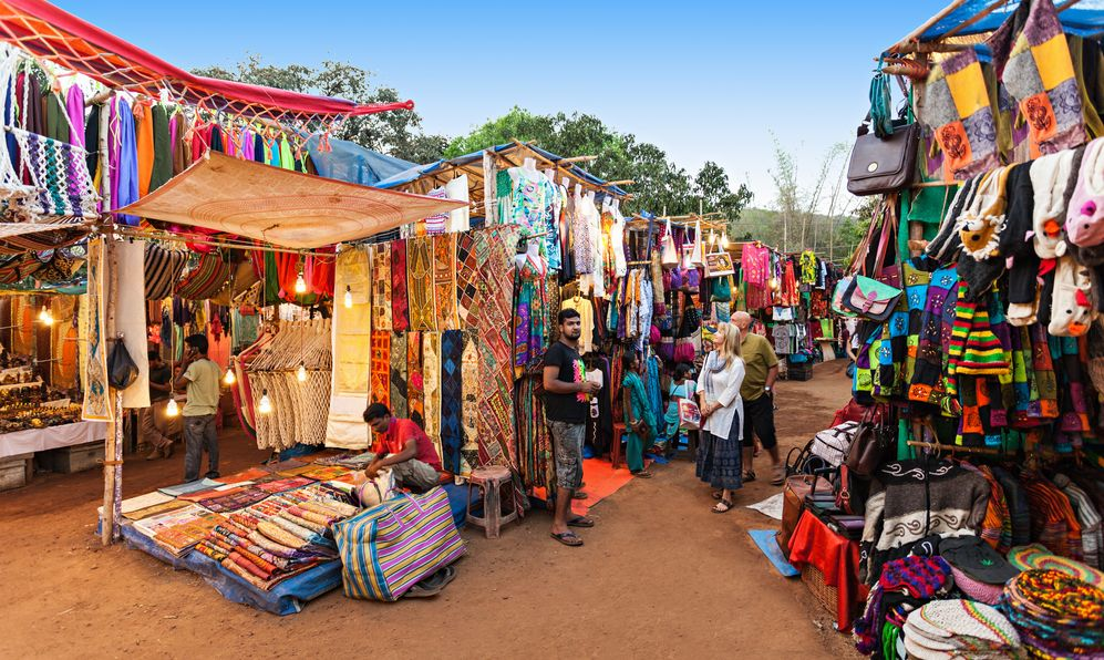 Goa Night Market on February 22, 2014, Goa, India
