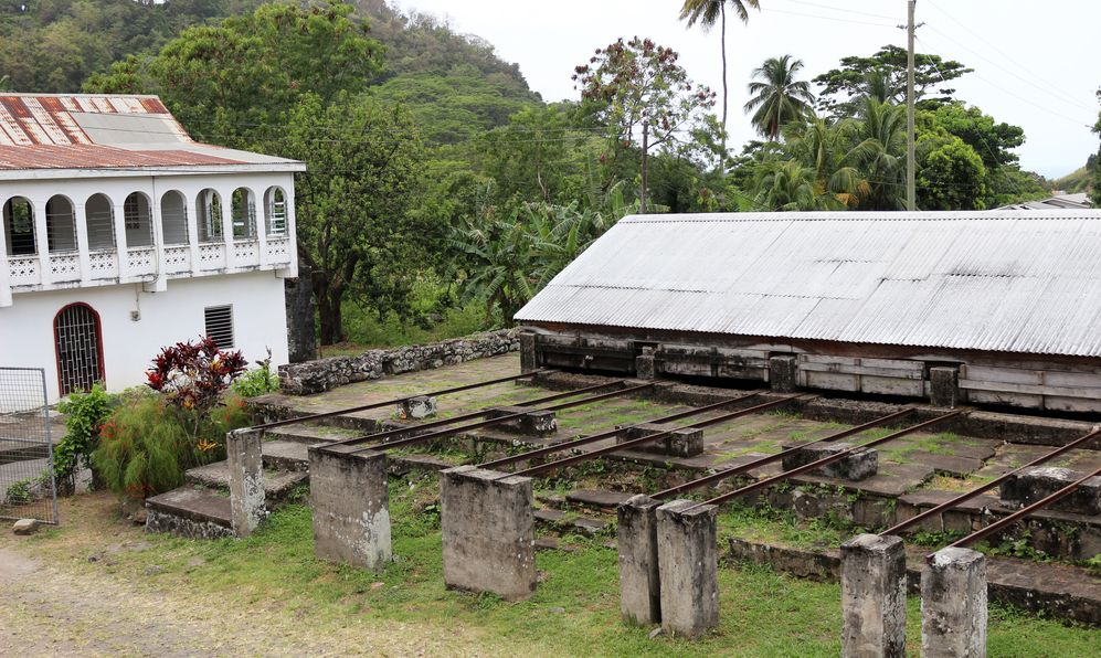 Buildings on a chocolate plantation in Grenada