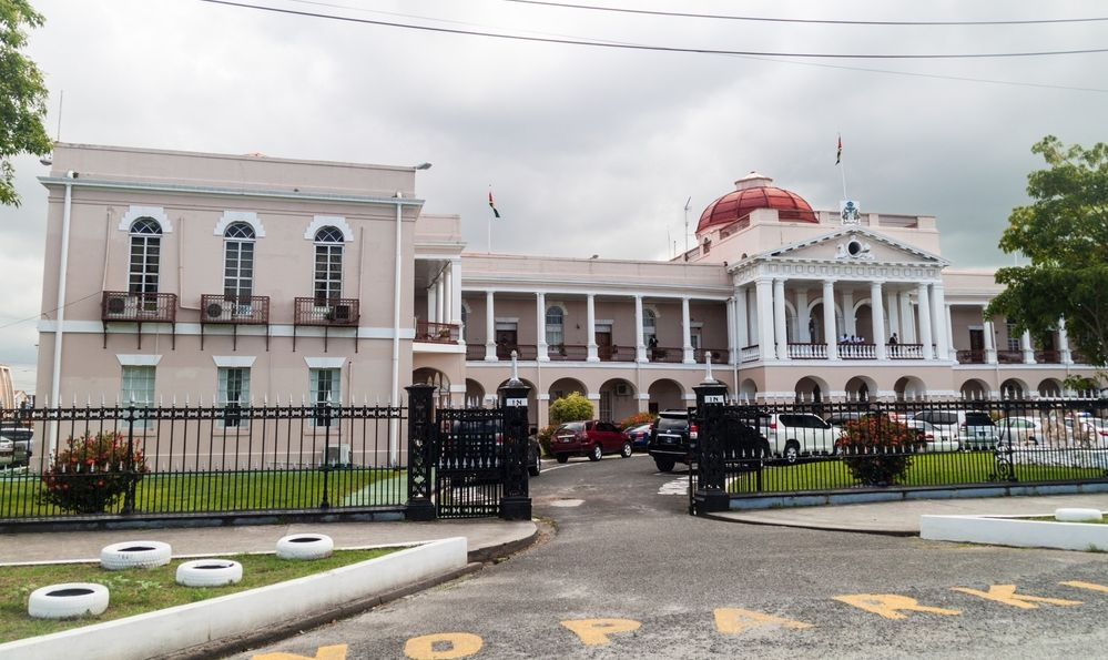 Building of the Parliament in Georgetown, capital of Guyana