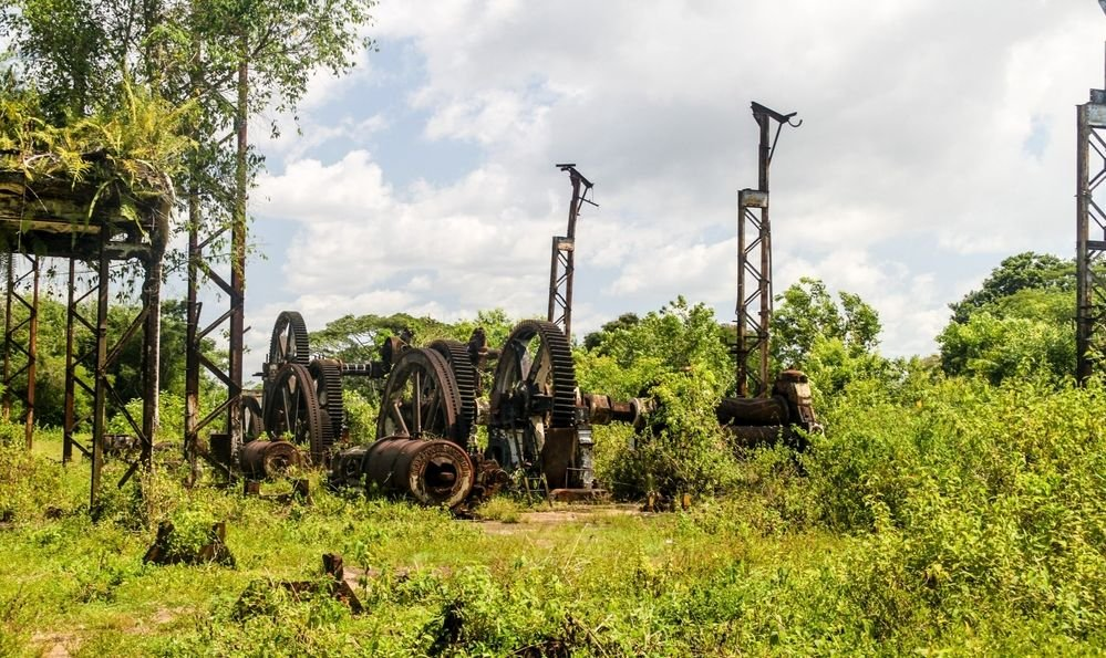 Former sugarcane factory at Marienburg plantation in Suriname