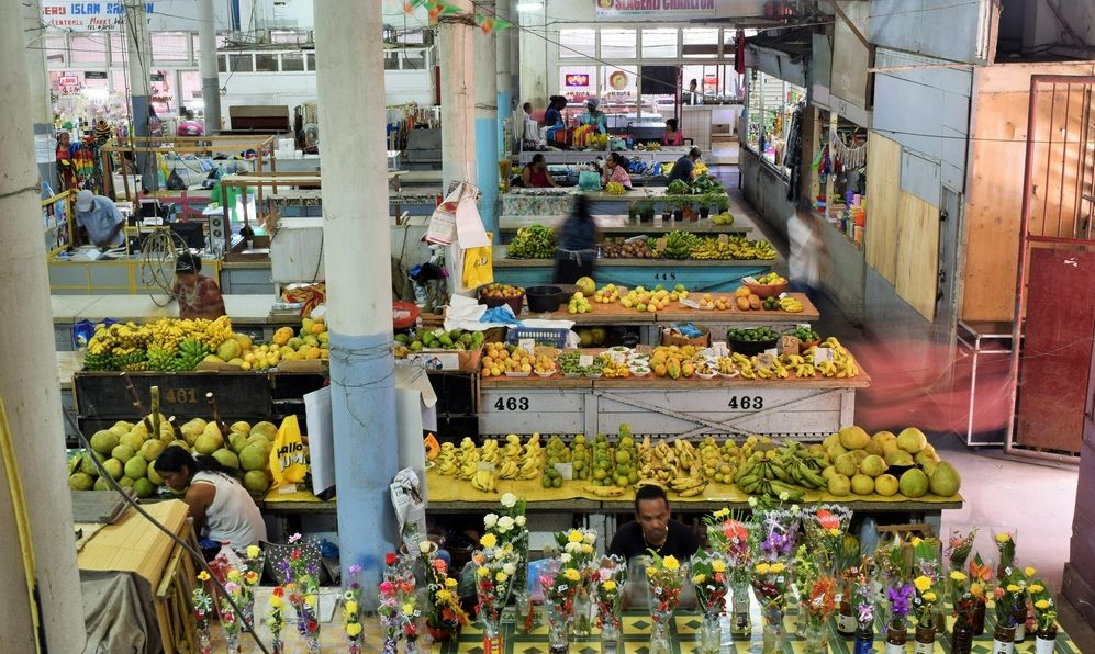 Central market at Paramaribo, capital of Suriname
