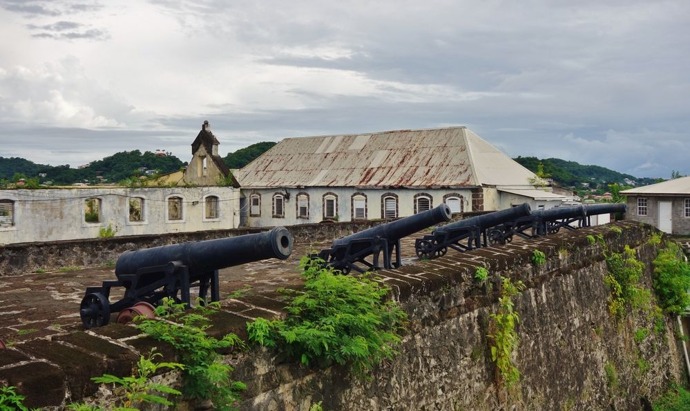Fort George, one of the most prominent landmarks in St George, the capital of the Caribbean island country of Grenada