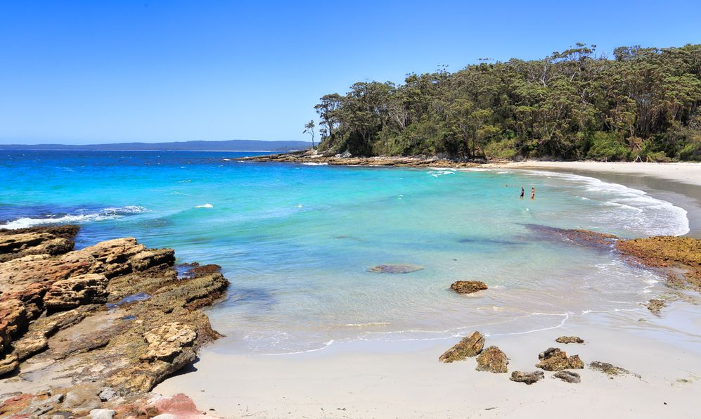 Beautiful destinations of Australia, Blenheim Beach Jervis Bay, Australia, pristine waters under perfect blue skies
