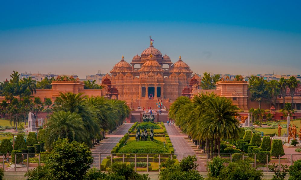 Akshardham Temple in New Delhi, India.