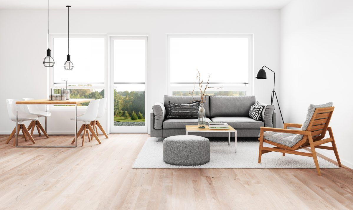 Crisp modern interior