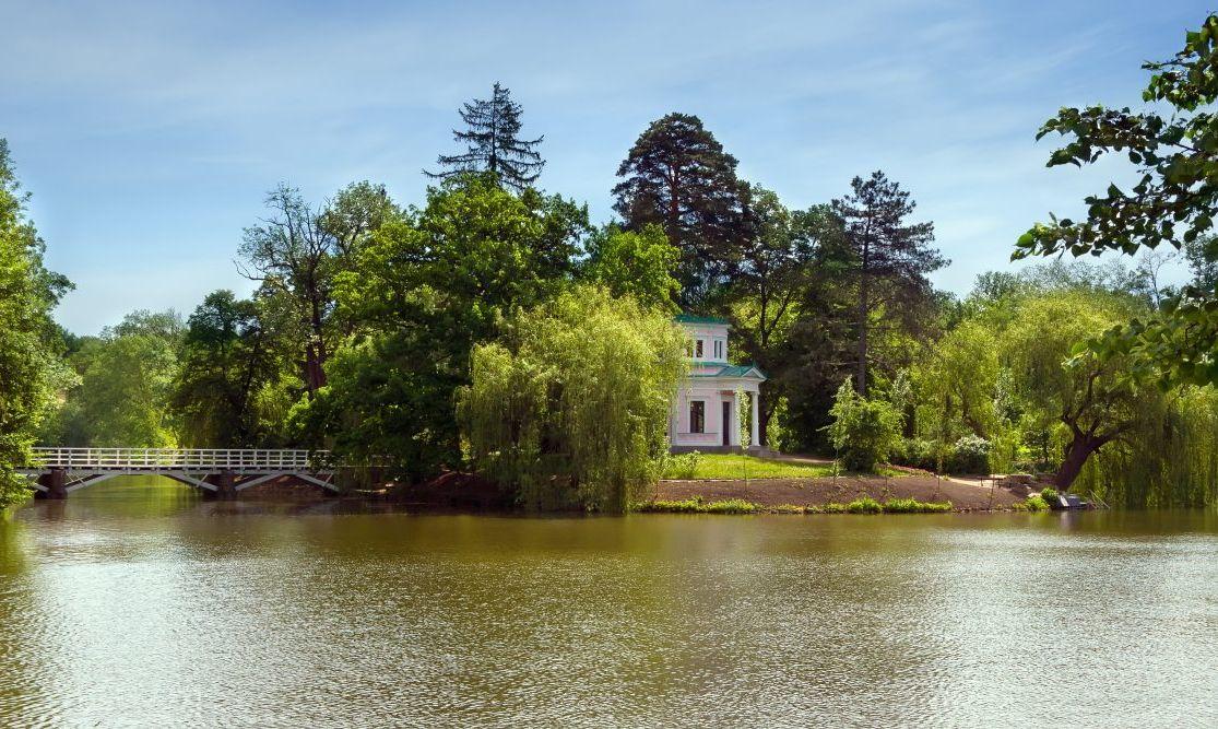 View of Sofiyivka Park in Uman city, Ukraine
