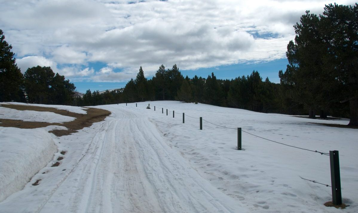 cross-country sky track at La Rabassa, Naturlandia, Andorra