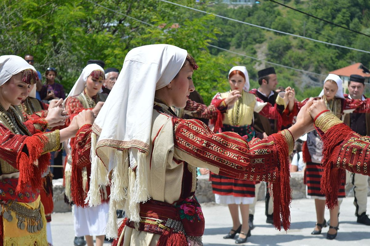 Photograph from the Galichnik Wedding, a tradition depicted through Macedonian dances