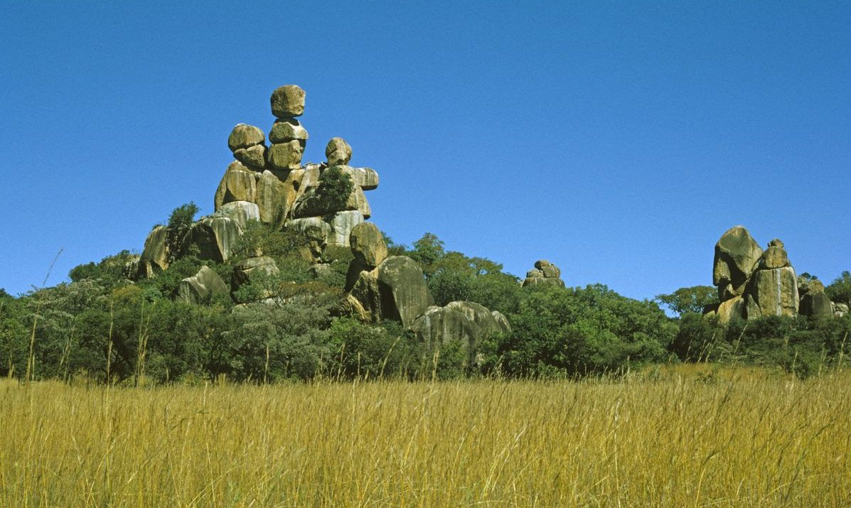 a rocky outcrop in the Matopos Hills, near Bulawayo, Zimbabwe
