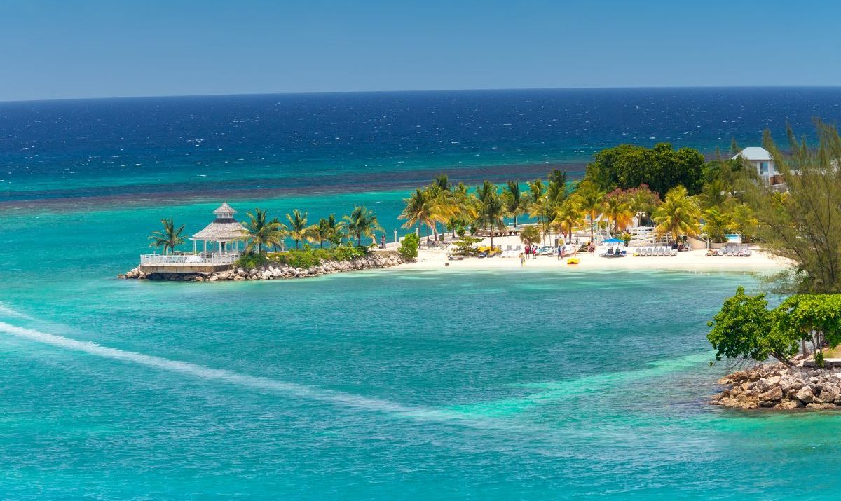 The lovely tropical island of Ocho Rios, Jamaica in the Caribbean