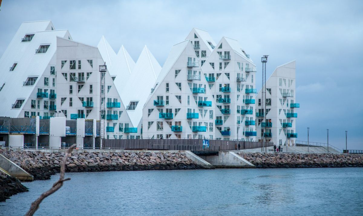 Architectural feature called The Iceberg in Aarhus, Denmark