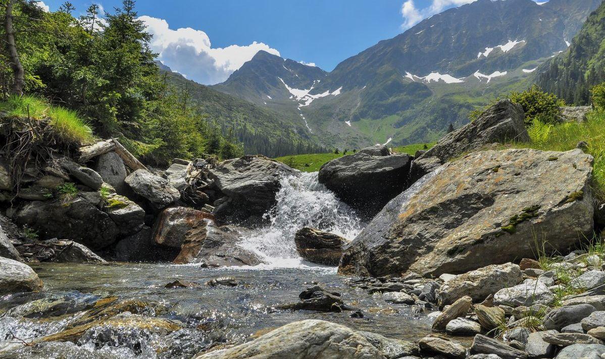View from Romanian Carpathian Mountains