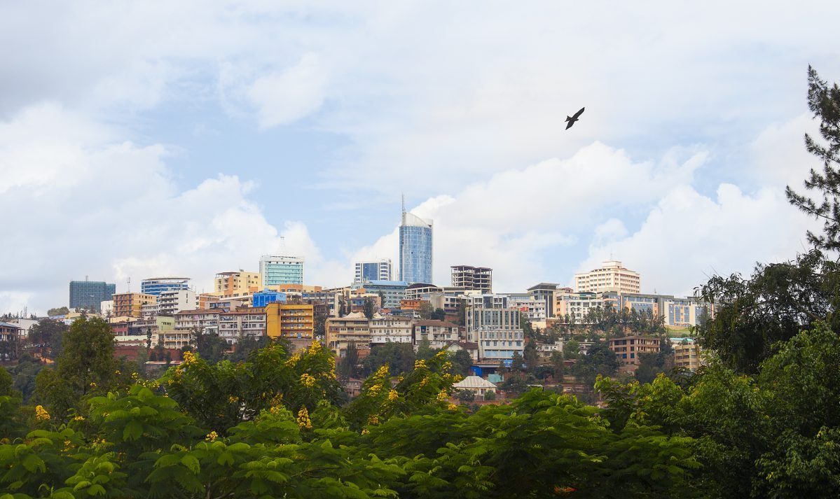 Kigali skyline of Business district, Rwanda