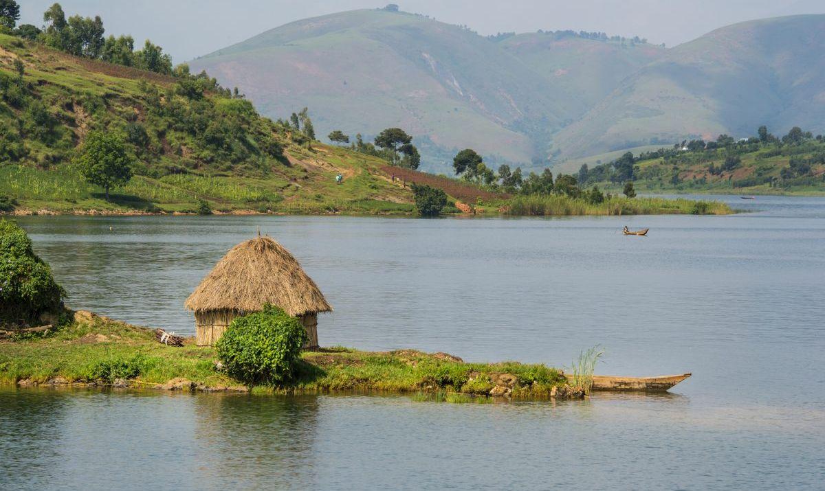 Shoreline of Lake Kivu, Congo, Africa