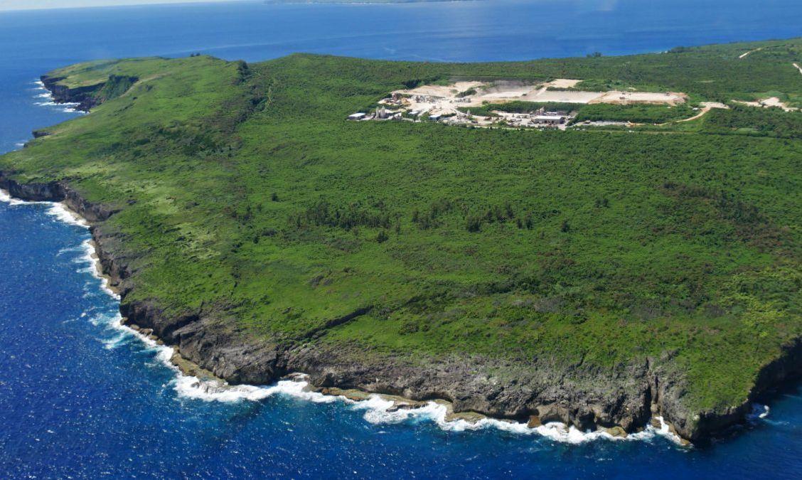 Aerial view of Naftan Point Saipan
