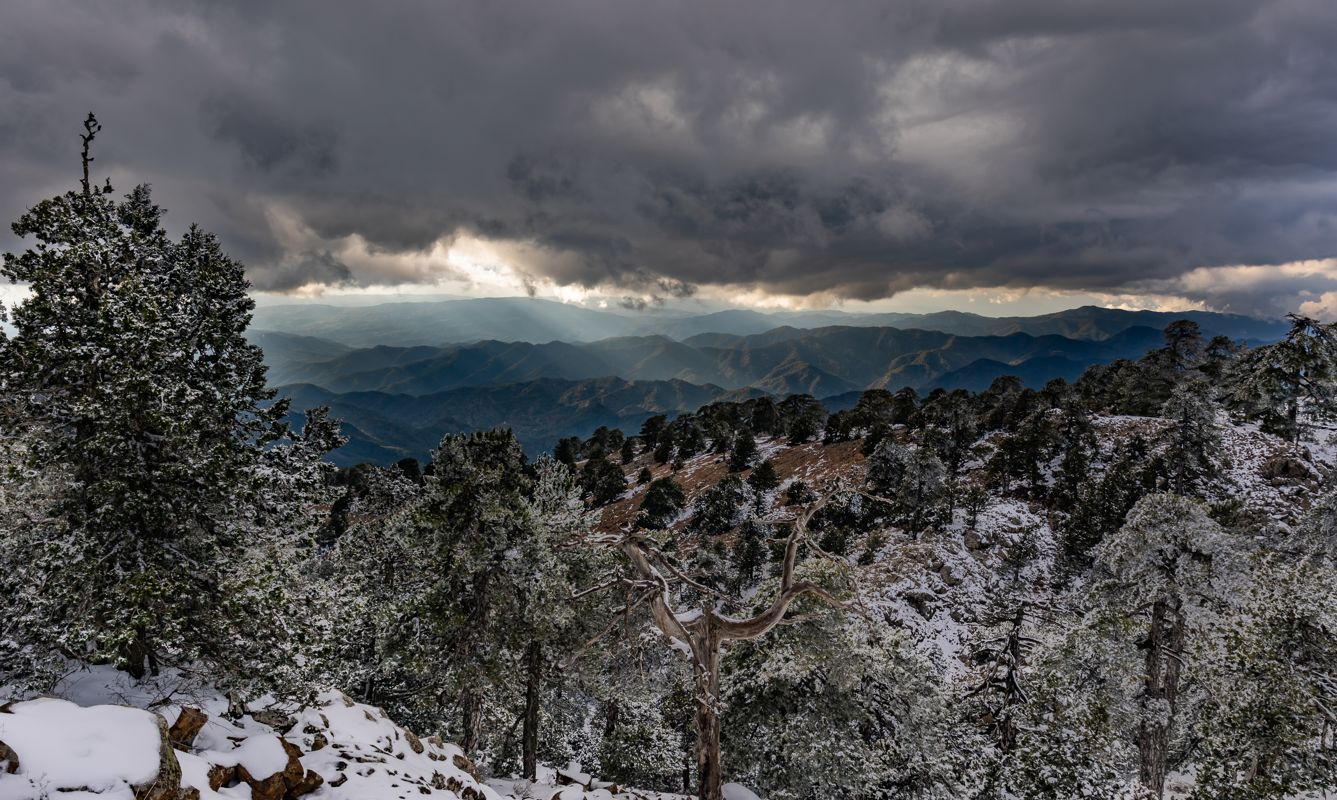 Moody Skies from top of Mount Olympos, January, Cyprus
