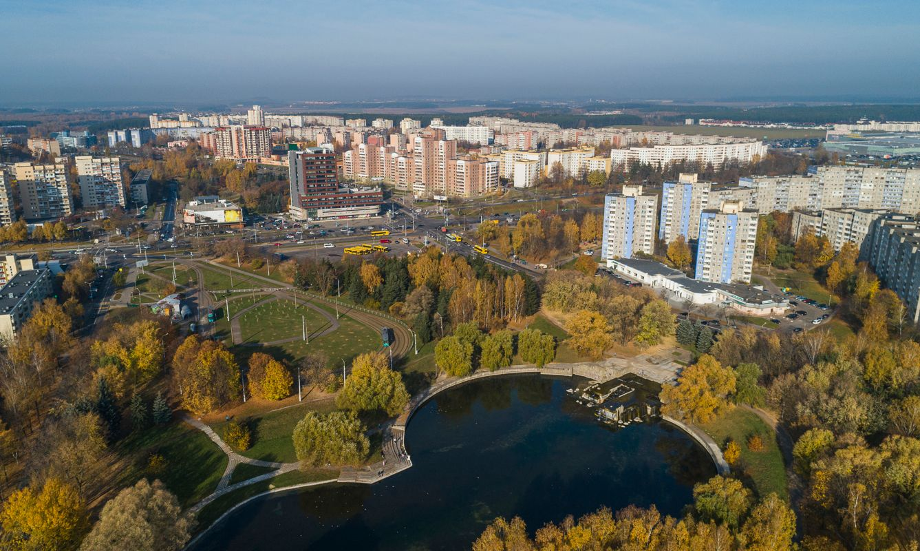 Minsk, the capital of Belarus, Eastern Europe, in the sunny autumn day.