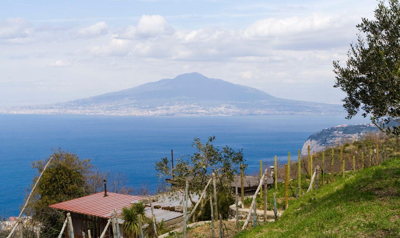 Mount Vesuvio seen from Sorrento, Italy