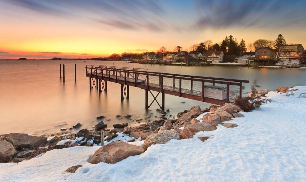 Thimble Islands Winter Connecticut