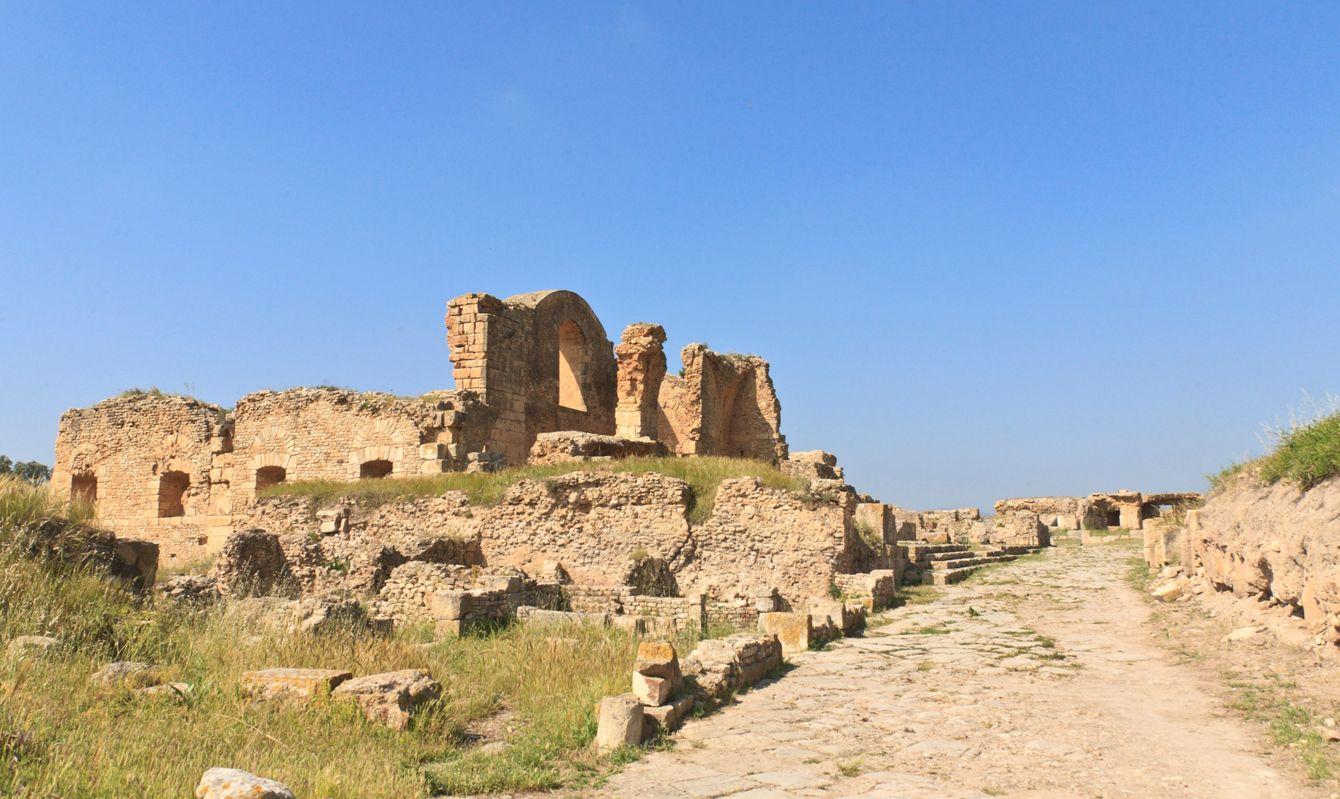 Tunisia: Path and Walls at Bulla Regia Roman SIte