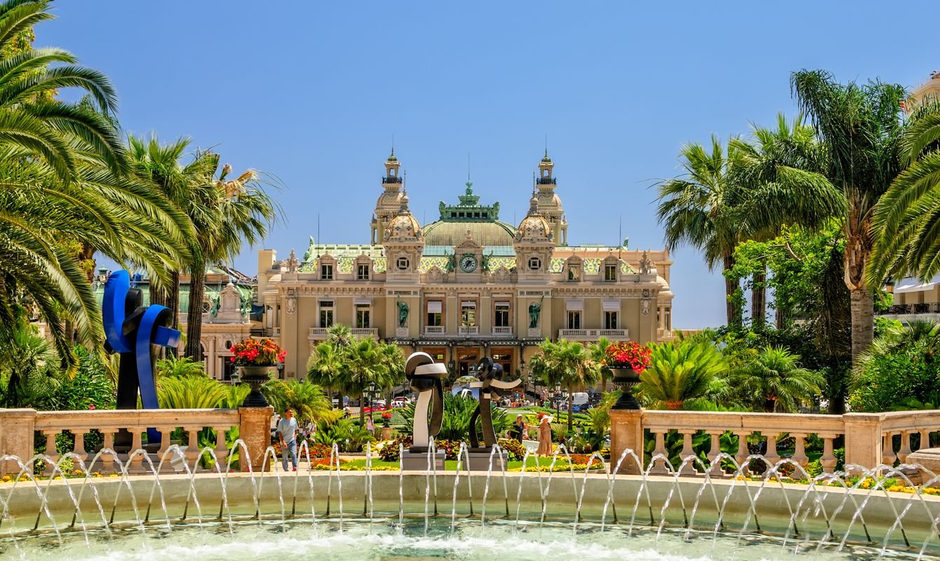 The Grand casino in Monti Carlo on a cloud free day