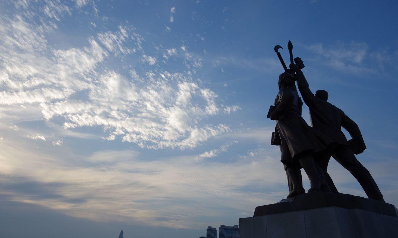 Classic communistic style statue in North Korea