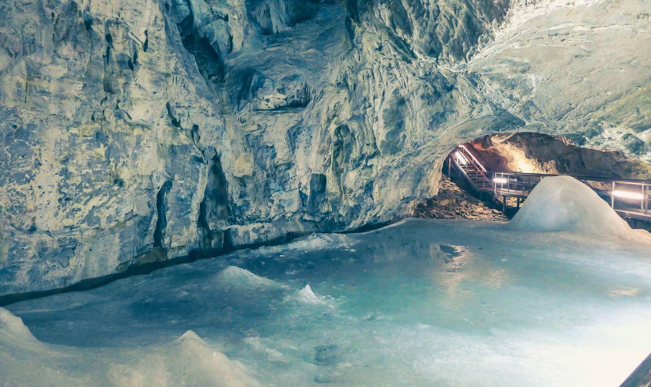 Demanovska ice cave at Slovakia