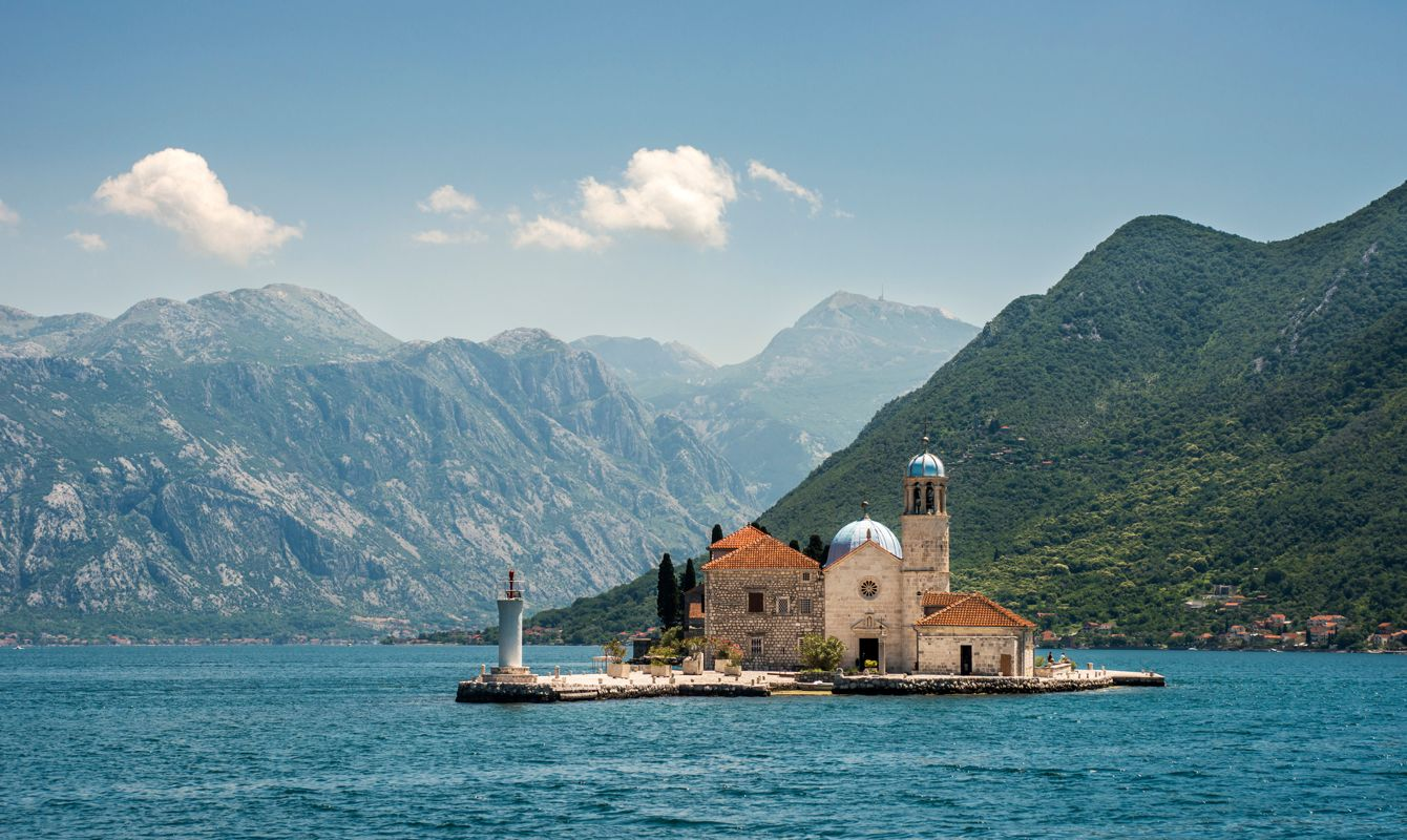 Our Lady of the Rock is small artificial island in front of Perast, Montenegro.