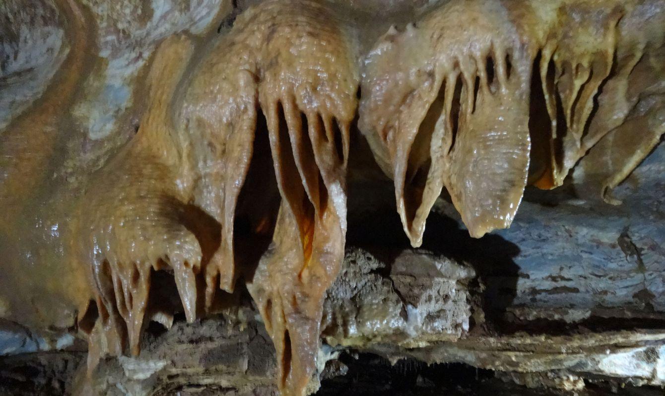 stalactite cave in Gadime, Kosovo