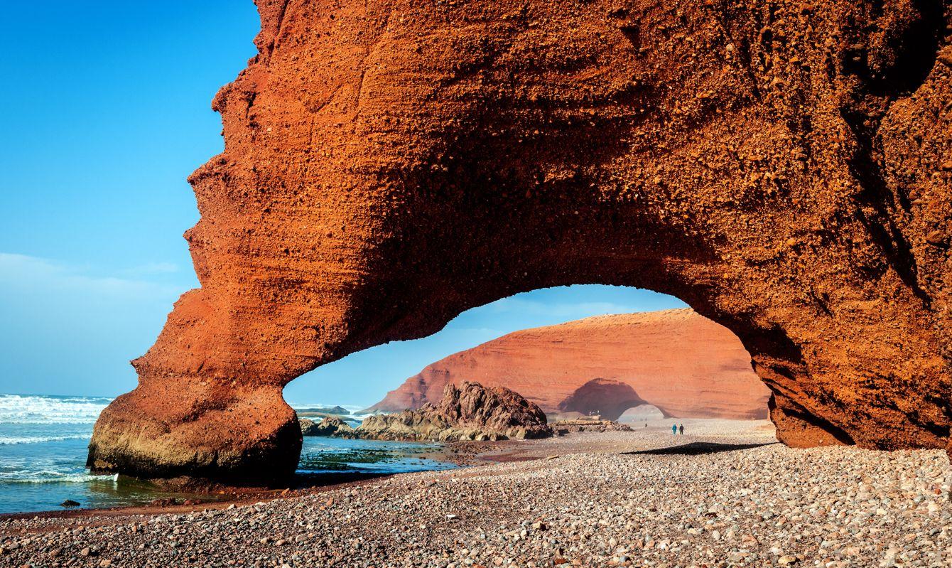 Beautiful Atlantic coast feature,Legzira, Sidi Ifni, Morocco