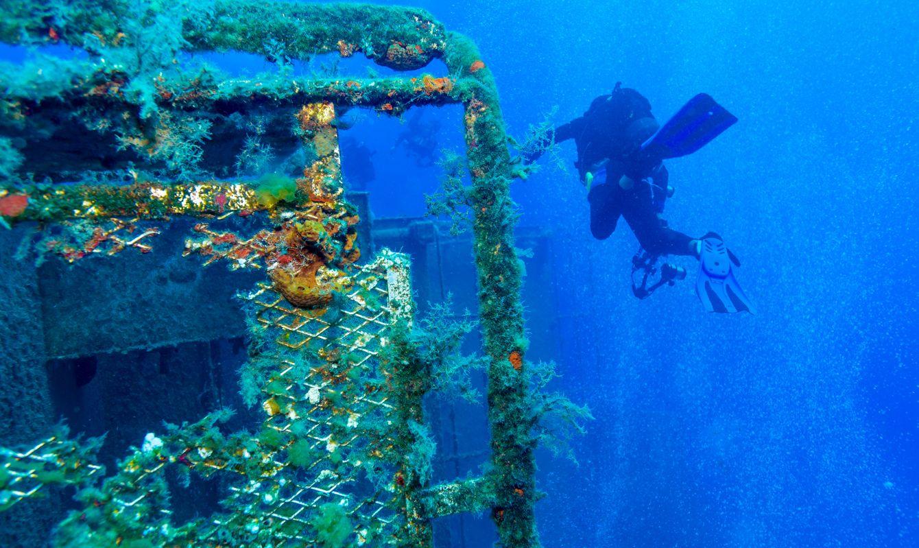 Zenobia Ship Wreck near Paphos, Cyprus