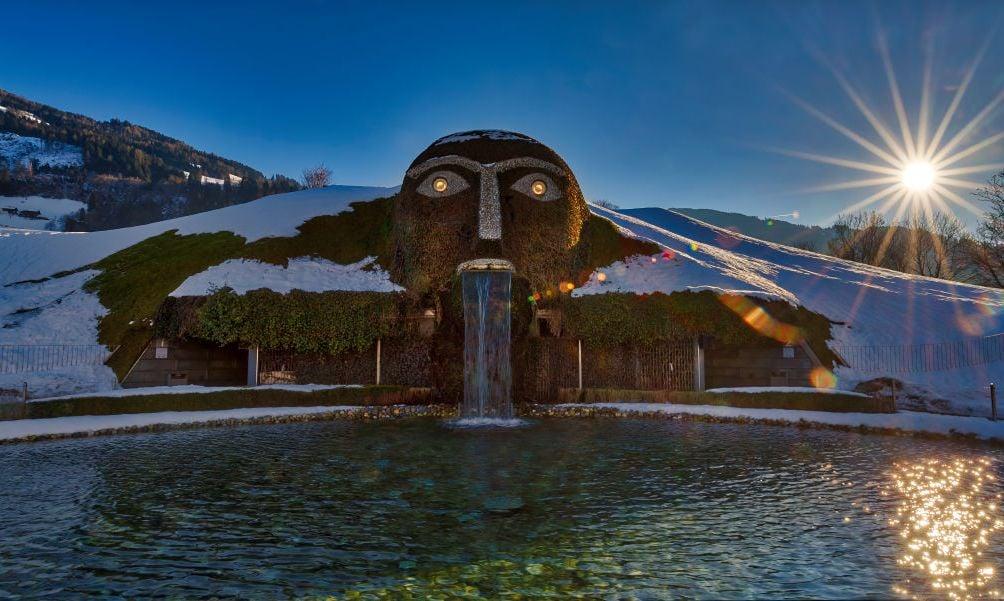 'The Giant' is seen at Swarovski Crystal Worlds (in German: Kristallwelten) on January 27, 2018 in Wattens, Austria.