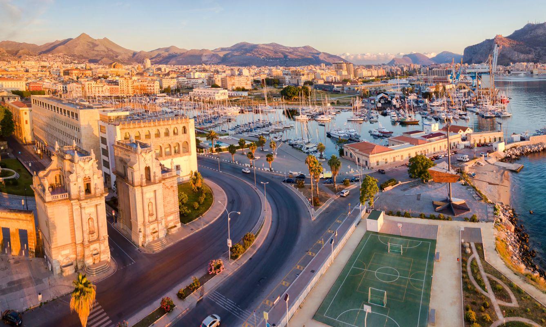 Panoramic view of Palermo, Sicily.