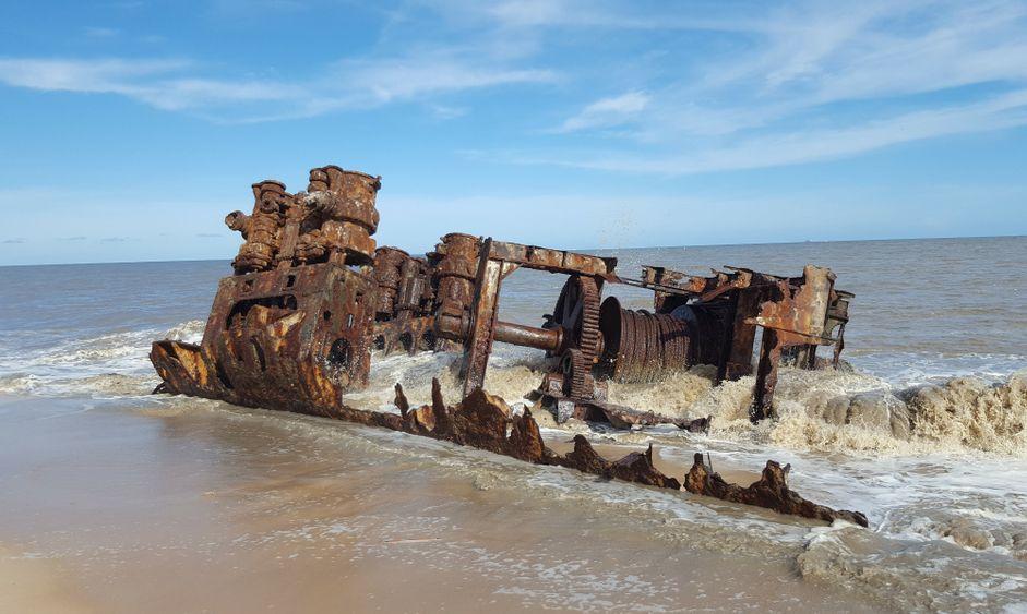 Shipwreck in Beira Mozambique