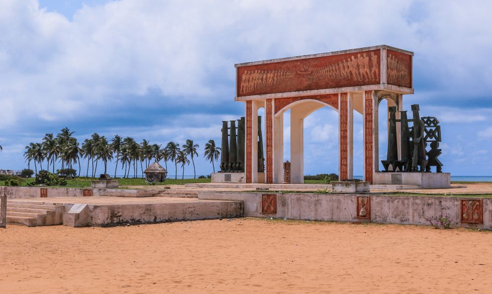 View to the Gate of No Return, Ouidah, Benin