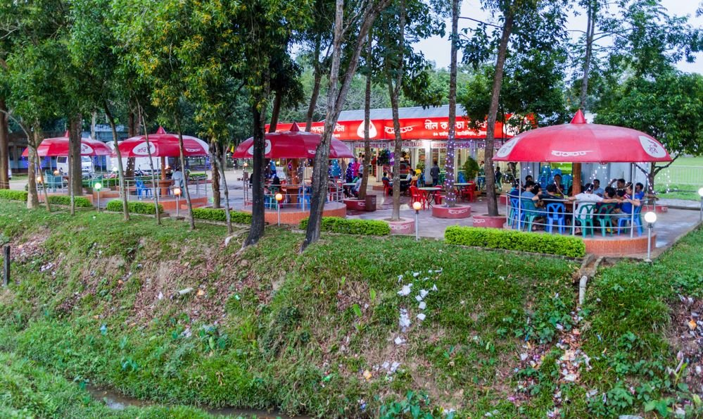 View of Nilkantha Tea Cabin near Srimangal, Bangladesh