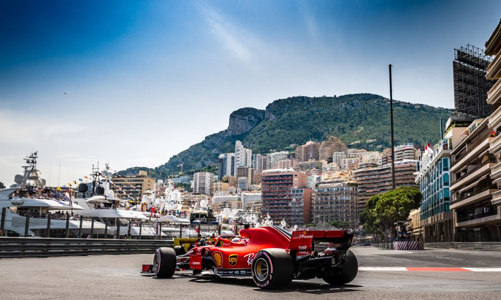 ebastian VETTEL (GER) in his Ferrari SH71 during qualifying for the 2018 Monaco Grand Prix