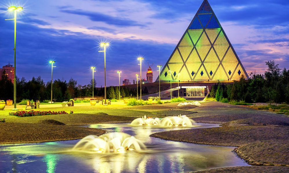 Astana, Kazakhstan, the Pyramid of Peace and Accord or the Palace of Peace and Reconciliation cultural center