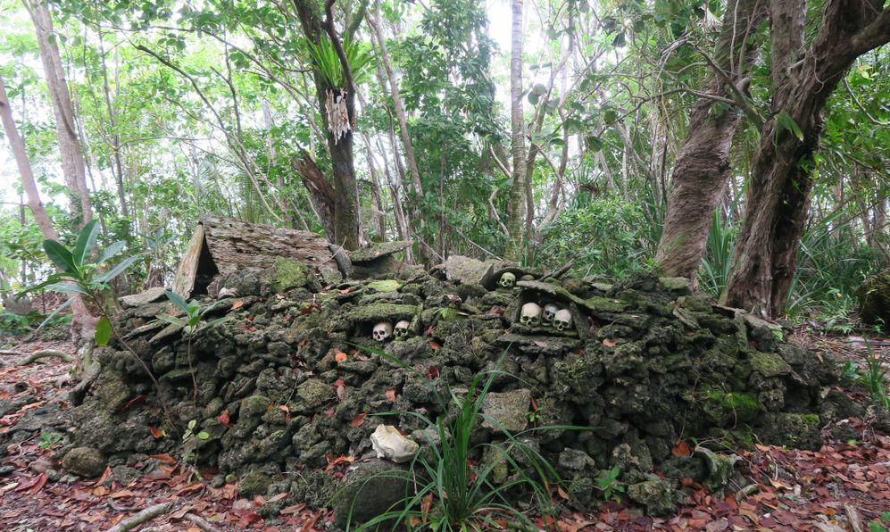 temple of skulls on Solomon Islands