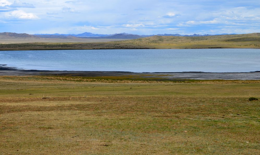 Bay Khol salt lake. Uvs Lake Basin