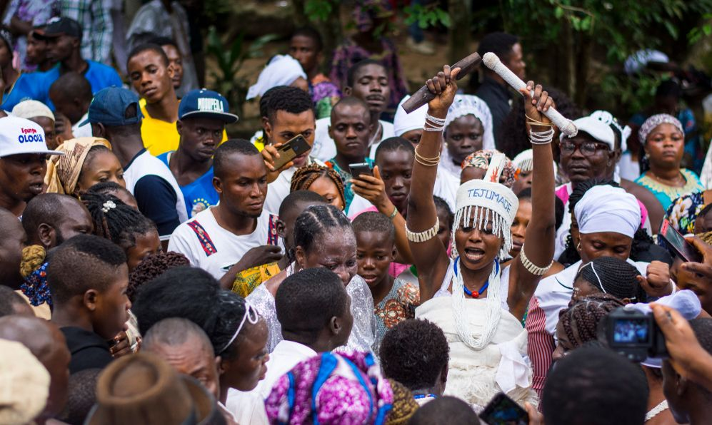 Osun worshippers at Osun Osogbo Festival