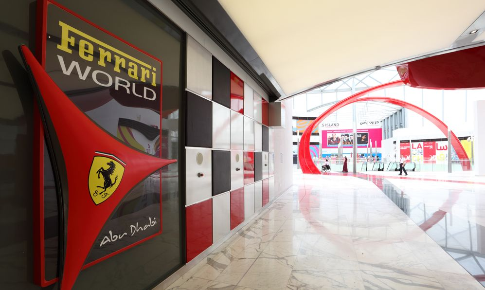 Ferrari World Theme Park in Abu Dhabi.
