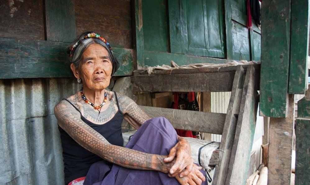 Portrait of elderly woman Filipina in Northern Luzon.