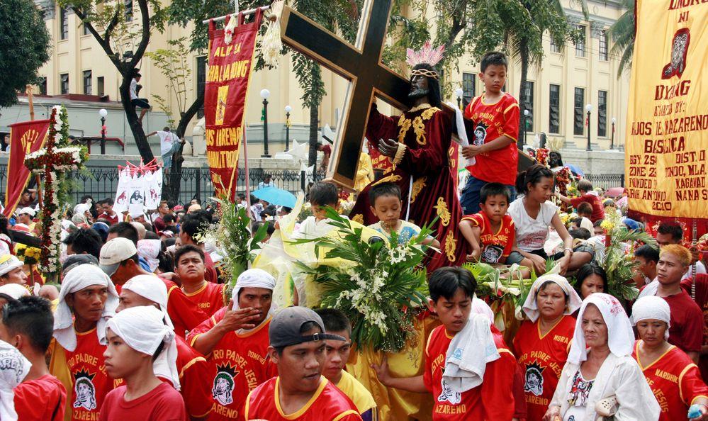Devotee celebrate the feast of The Black Nazarene