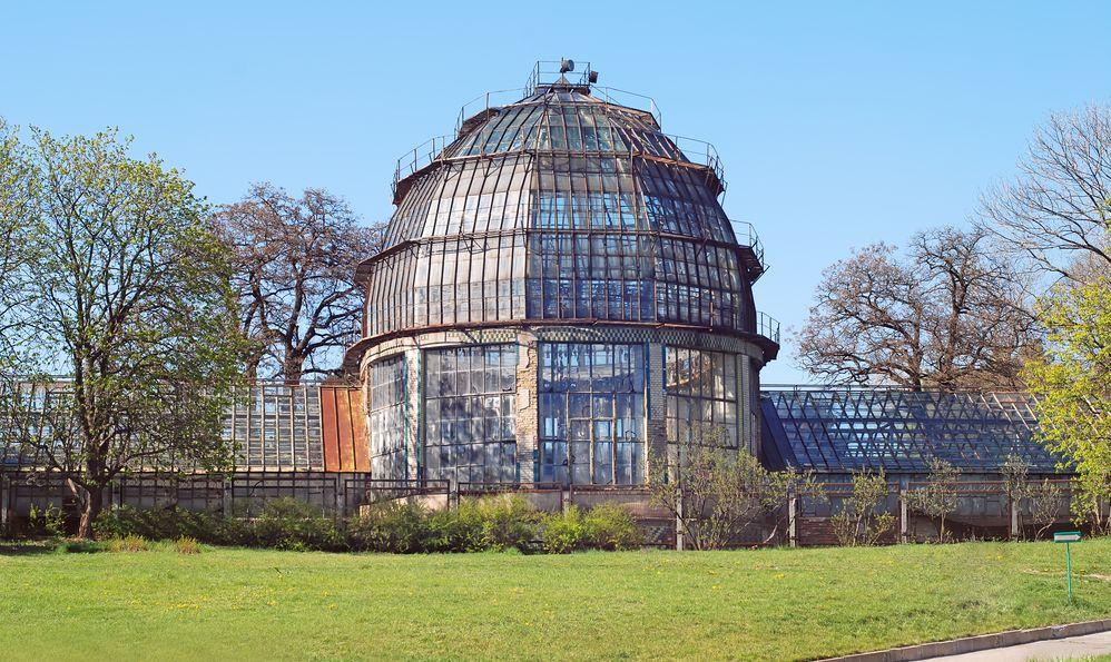 Greenhouse in Grishko Central Botanical Garden in Kiev, Ukraine