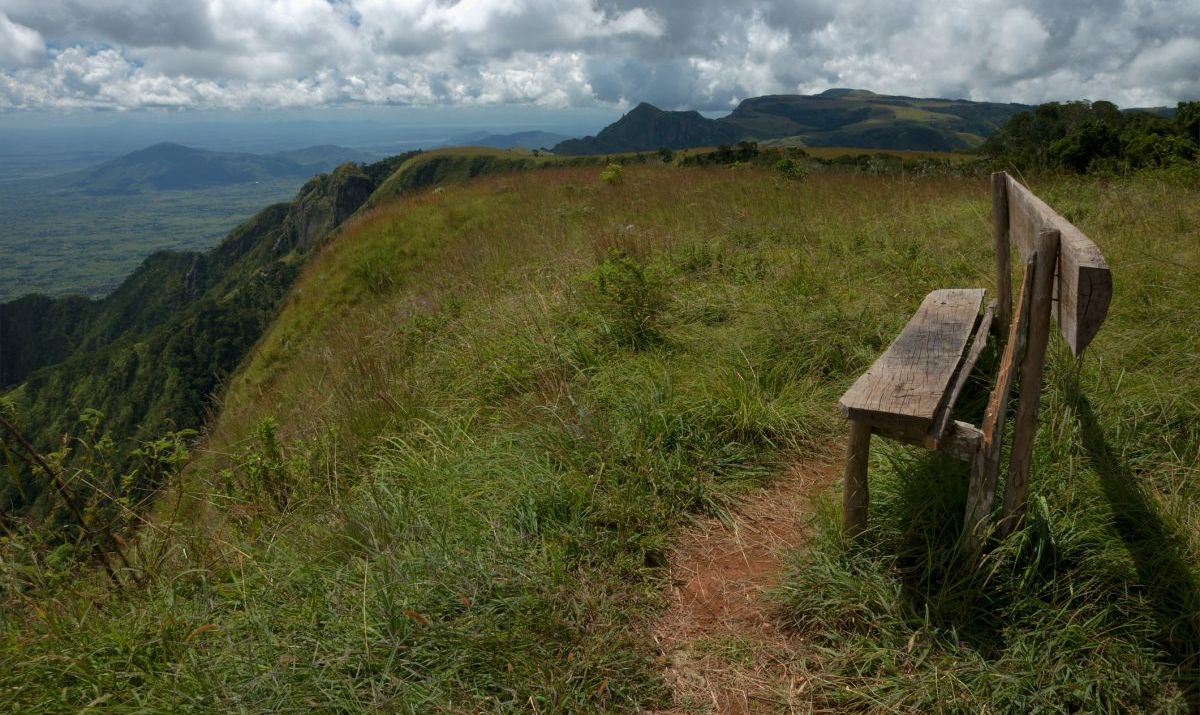 Vistas across the mountains and plain from the Zomba Plateau.