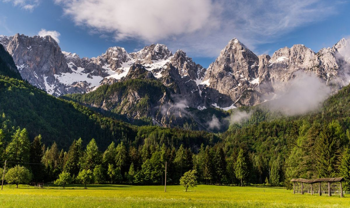 A mountain view at Triglav National Park.