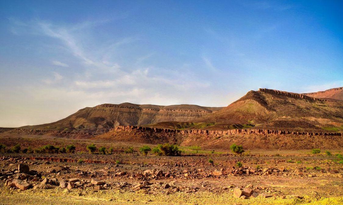 Terjit, a green desert oasis.