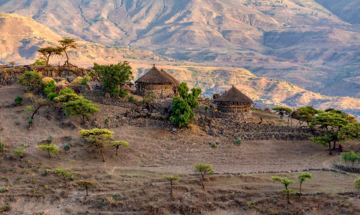 The vast lands of rural Ethiopian