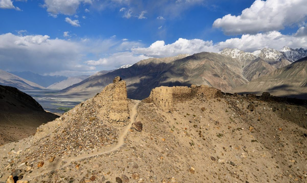 A view of Yamchun Fortress on the ancient Silk Road.